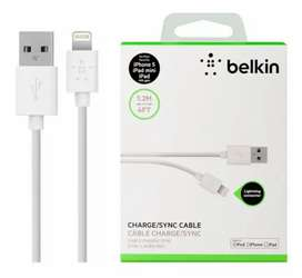 Cable Lightning a USB de 1.2 m blanco o negro Belkin