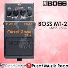 Efecto de guitarra boss metal zone mt-2