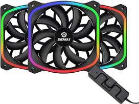 VENTILADORES ENERMAX SQUA RGB 120MM CON CONTROL!!!