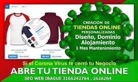 Creación páginas web y tiendas online