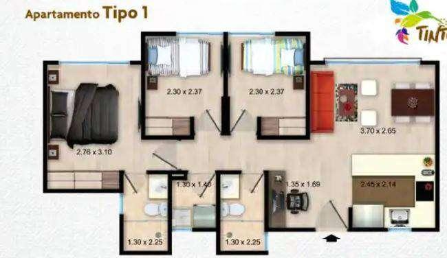Oportunidad apartamento sector Hayuelos vendo cuota inicial 0