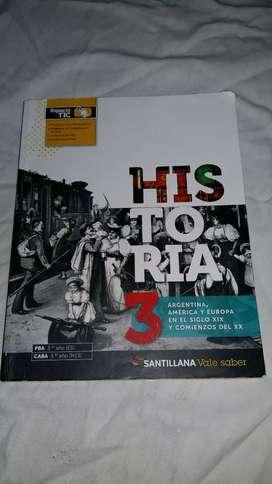 Libro de Historia 3, santillana.