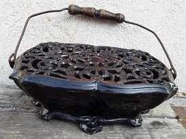 antiguo calientapies calentador bracero
