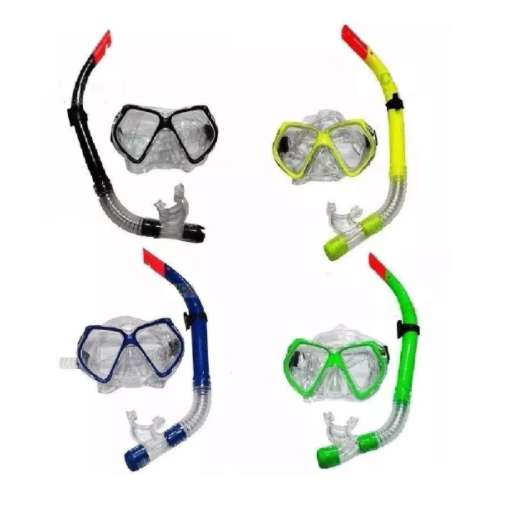 Snorkel Set Careta Swimmer Buceo Silicona Doble