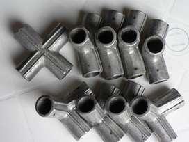 Uniones codos robustos aluminio