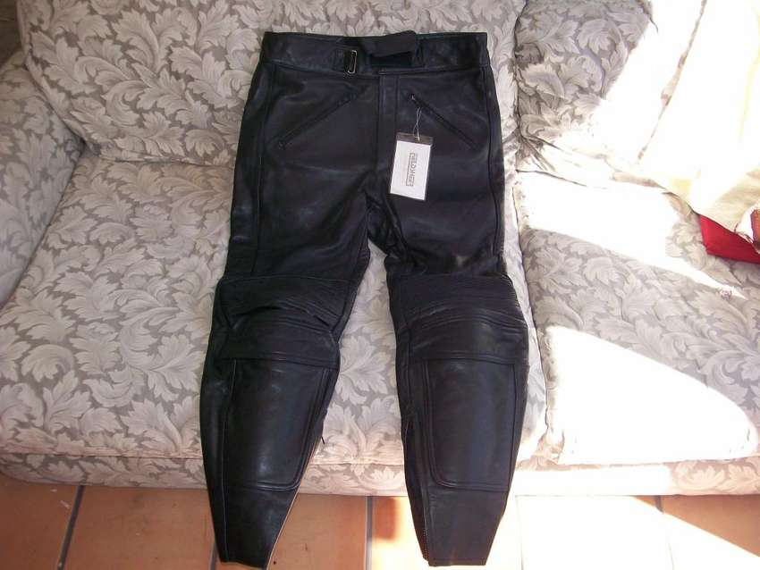 BLACK JEANS RACING LEATHER BY FIELDSHEER NEW!! 0