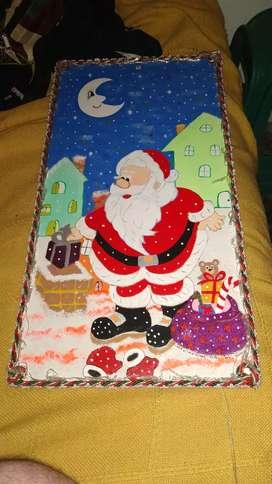 Cuadros navidad luminosos y papá Noel