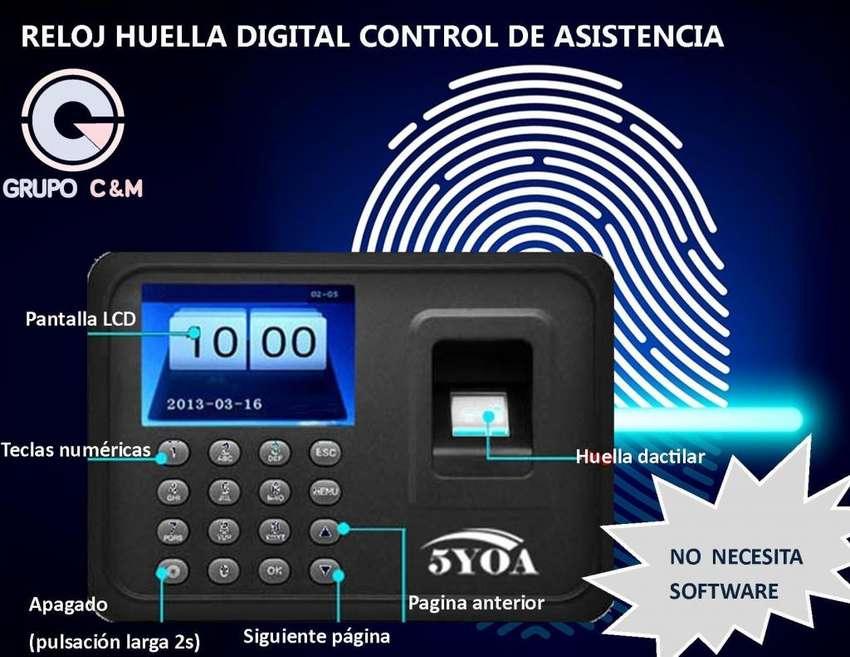 HUELLA DIGITAL CONTROL DE ASISTENCIA BIOMETRICO 5yoa 0