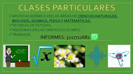 Clases ONLINE de Química, matemáticas, biología y física.