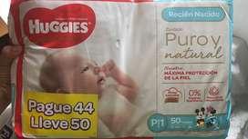 Vendo pañales  marca huggies talla P