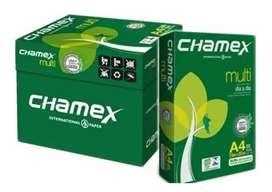 Resma A4 Chamex 75grs Papel Extra Blanco  5xcaja