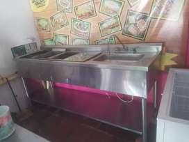 Cocina freidora plancha vaporera