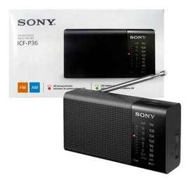 Radio Portátil Con Altavoz Sony Icf-p36 Am/fm Original Nuevo