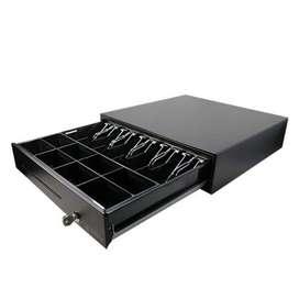 Cajón Monedero Digital POS Rodachines Sobre Riel 100 Metálico Pos Negro