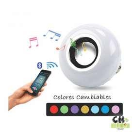 Lampara Bluetooth Parlante Con Control Remoto