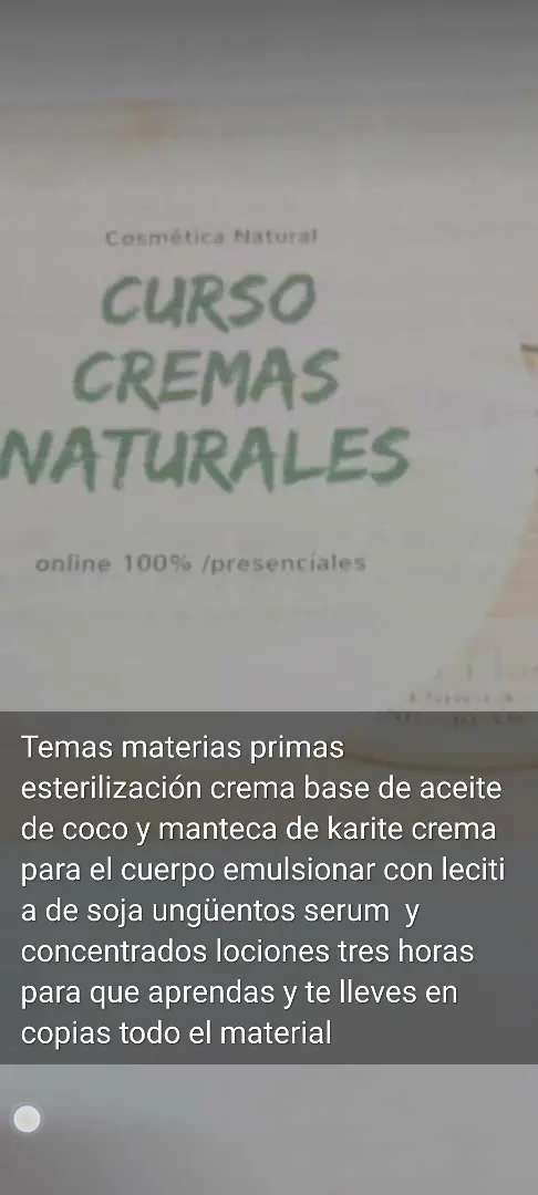 Seminario de cosmetica natural 0