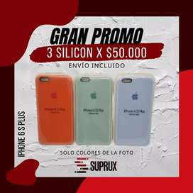 Funda / Forro / Silicon Iphone 6plus (3x50.000)