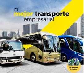 transporte especial para turismo y a nivel nacional