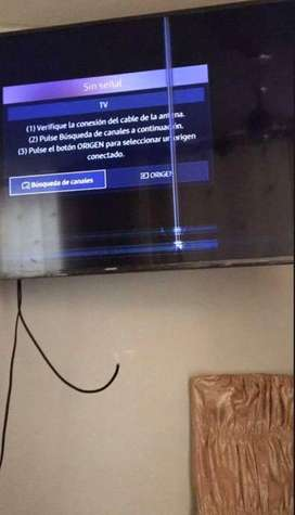 Tv 55 pulgadas samsung dañada