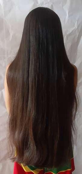 Cabello castaño virgen 60cm