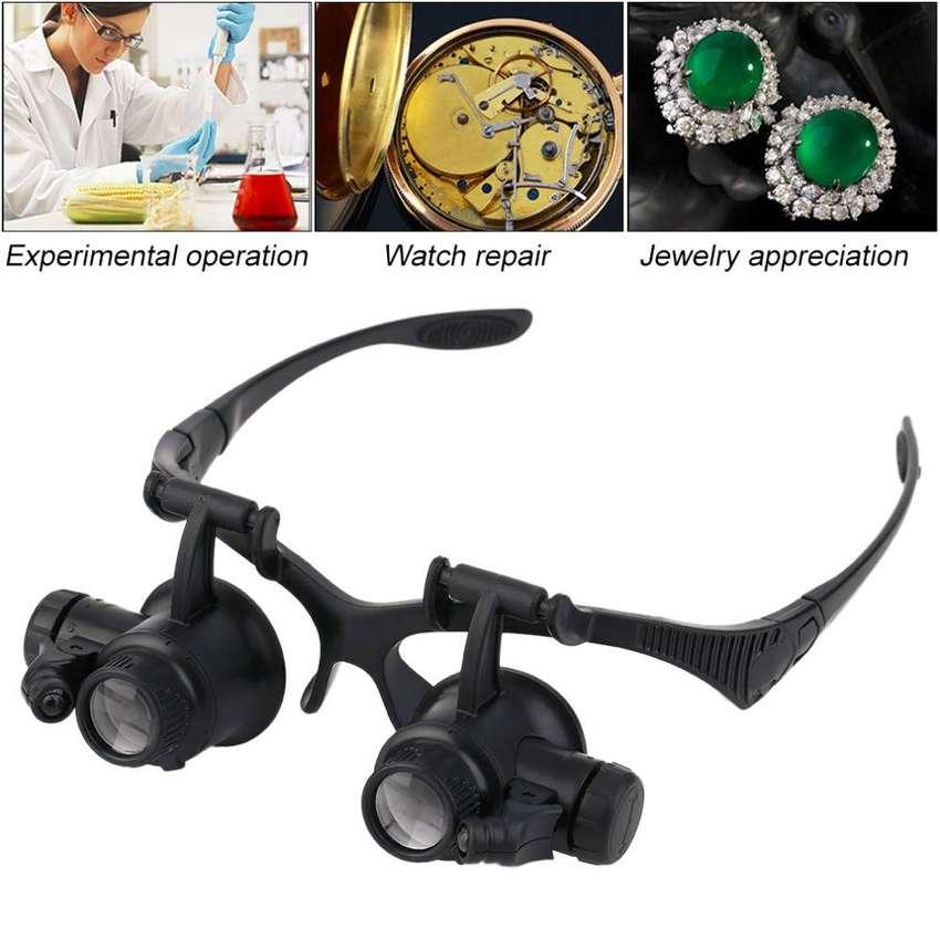 Gafas Lupa Relojero 20x Con Luz Led 0