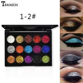 Paleta de sombras de ojos perlada diamante,15 colores cálidos, resistente al agua/envió incluido gratis