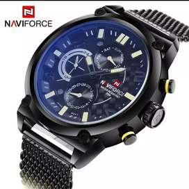 Reloj Naviforce, Original con caja, Chronograph, Resistente al agua, Dial Japan Movt (Seiko) Funcional, Acero Inoxidable