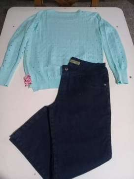 Suéter y jeans