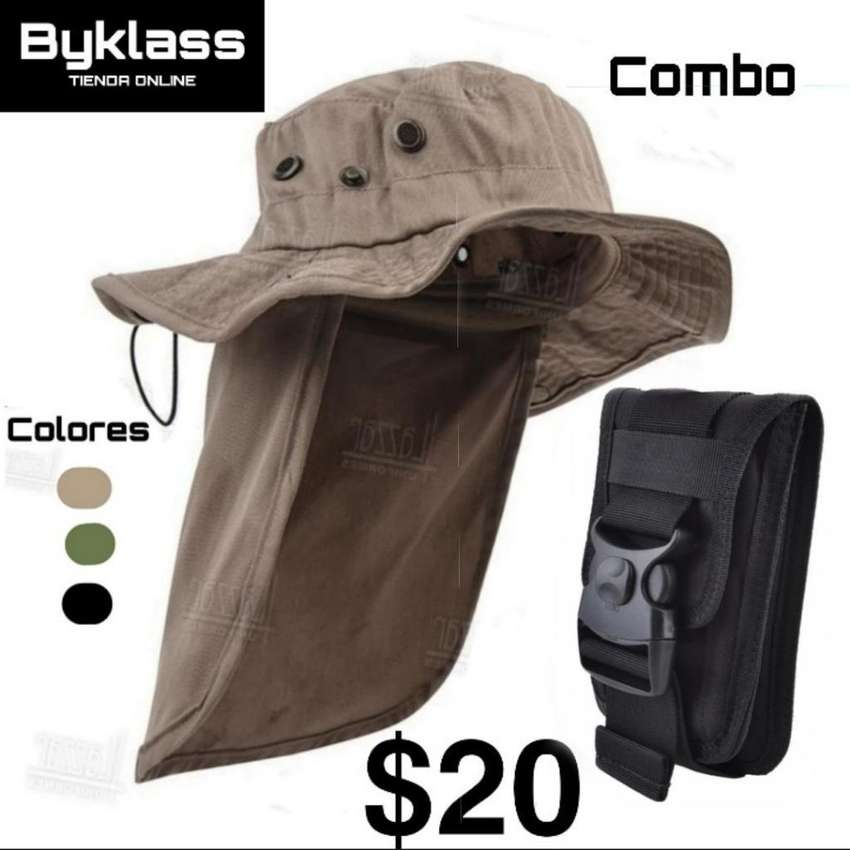 Sombrero Mas Bolsito Multiusos Combo 0
