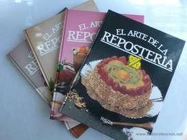 COLECCION El Arte De La Repostería.4 Libros.recetas faciles .Editorial Nauta Importados