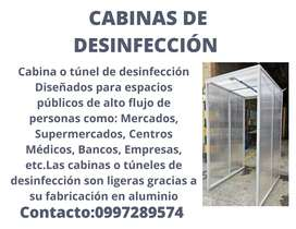 Cabinas de desinfección con garantía