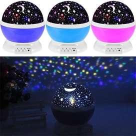 Lampara Luna Y Estrellas Proyector Laser Proyeccion Domo_ref:01