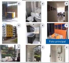 Lindo apartamento cocina integral zona de lavado, balcón baños con división en acrílico y gabinetes