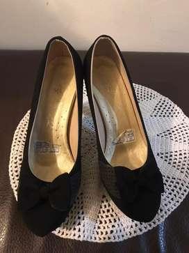 Zapatos tacon negro talla 37