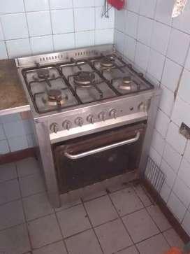 Cocina ariston 70 cm toda acero inoxidable
