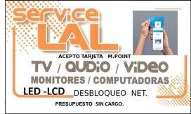 REPARACION DE TV LCD LED AUDIO Y COMPUTADORAS, NOTEBOOK ,