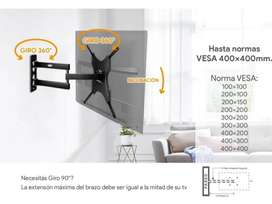 Soporte Tv Led Smart 26 a 55 Pulgadas Extensible 46cm