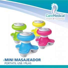 Masajeador Mini Portatil Usb - Pilas - Ortopedia Care Medical