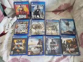 Vendo juegos para ps4