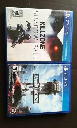 Killzone Shadow Fall & Stars Wars Battlefront PS4