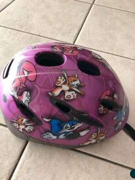 Casco bici nena