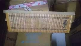 cuadro de bambu labrado y sombrero chino