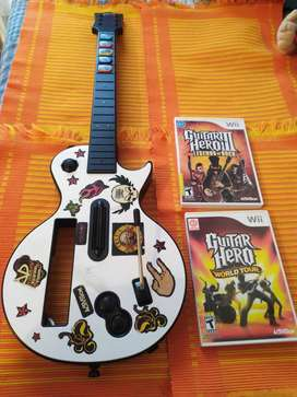Guitar hero wii + 2 juegos