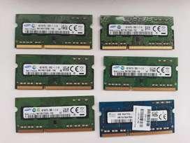 Memorias ram ddr3 de 4gb 12800