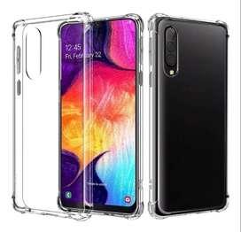 Funda TPU Termoplastico Transparente Borde reforzados Samsung A10s