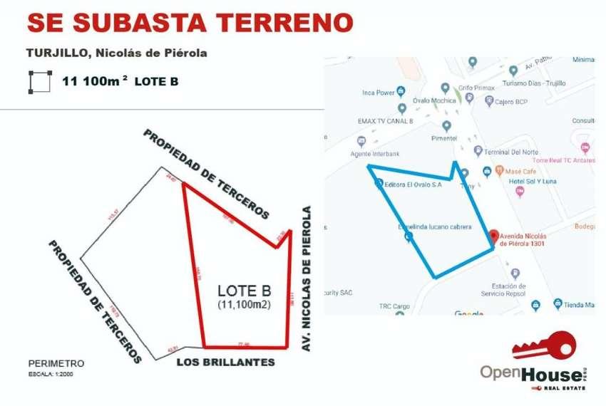 VENDO TERRENO CERCADO 11,100 MT2 EN NICOLAS DE PIEROLA LA LIBERTAD TRUJILLO 0