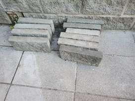 lote de 30 Ladrillos hormigon Gris Texturado simil Piedra Villa Adelina