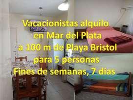 Mar del Plata  5 Personas Playa Bristol