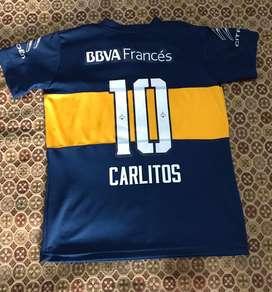 Camiseta boca 2015 carlos tevez usada m y L