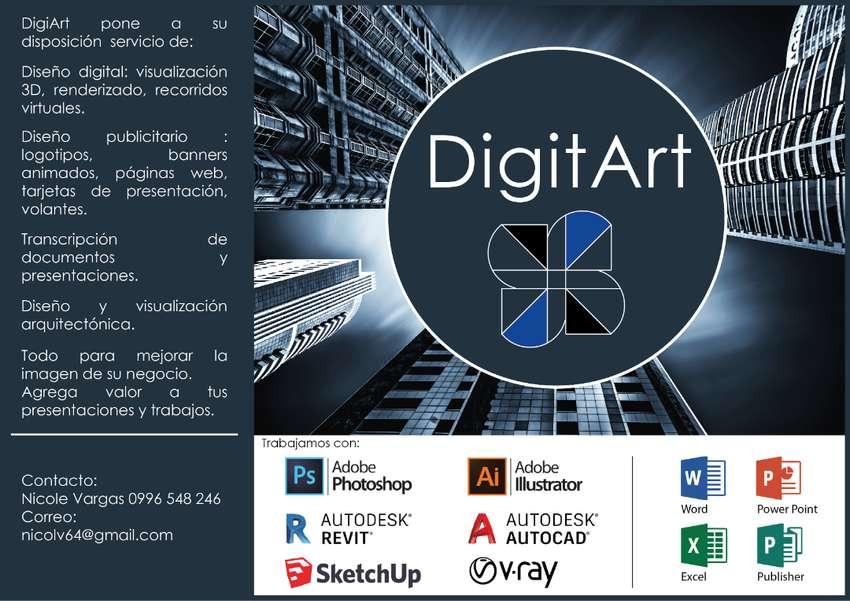 Diseño y visualización digital, publicitaria y arquitectónica. (Transcripción de documentos) 0